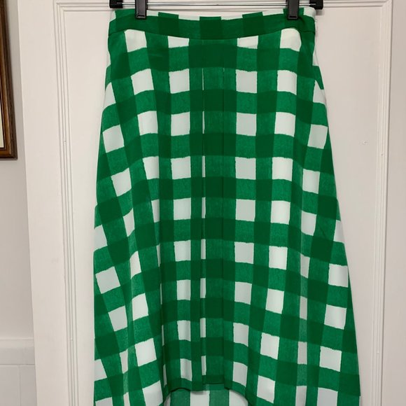 The Limited Green Checked Skirt